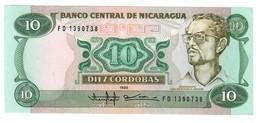 Nicaragua 10 Cordobas 1985 UNC .C2. - Nicaragua