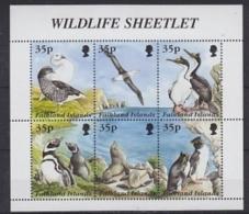 Falkland Islands 1995 Wildlife Sheetlet 6v In Sheetlet ** Mnh (39805) - Falklandeilanden