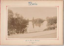 Photo Sur Carton Recto : PARIS Lac Du Bois De Boulogne , Verso : Cascade De Saint Cloud - Voir Description - Photos
