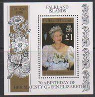 Falkland Islands 1996 Queen's 70th Birthday M/s ** Mnh (39807) - Falklandeilanden