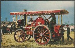 Garrett Showman's Tractor No 33987, C.1960s - Salmon Postcard - Postcards