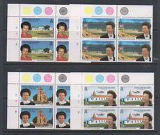 Falkland Islands 1996 Royal Visit 4v Bl Of 4 (corner) ** Mnh (39808A) - Falklandeilanden