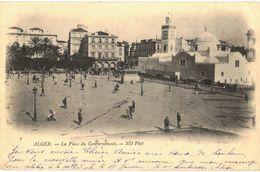 CPA N°14280 - LOT DE 4 CARTES D' ALGER - LA PLACE DU GOUVERNEMENT ET LA HAUTE VILLE + ESCADRE DE LA MEDITERRANEE - Algerien