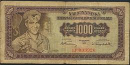 °°° JUGOSLAVIA 1000 DINARA 1955 °°° - Jugoslavia
