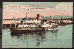 CPA 50 - CHERBOURG - ( CH516 )  Gare Maritime   Le Transbordeur Satellite - Cherbourg