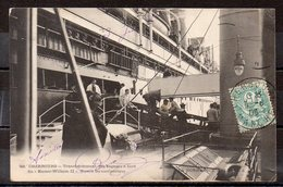 CPA 50 - CHERBOURG - ( CH516 )  Gare Maritime   Transbordement à Bord Du Kaiser Wilheim II - Cherbourg