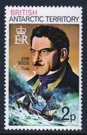 British Antarctic Territory 1973 Single Stamp 2p Showing Famous Ship And Captain In Unmounted Mint Condition. - Territorio Antartico Britannico  (BAT)