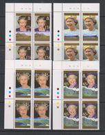 Falkland Islands 1996 Queen's 70th Birthday 4v Bl Of 4 (corner) ** Mnh (39809B) - Falklandeilanden