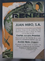 ACCIÓN RENFE: JUAN MIRÓ (1949) - Acciones & Títulos