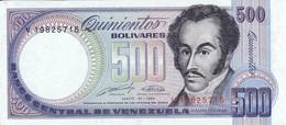 BILLETE DE VENEZUELA DE 500 BOLIVARES DEL AÑO 1990 EN CALIDAD EBC (XF) (BANKNOTE) - Venezuela