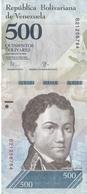 BILLETE DE VENEZUELA DE 500 BOLIVARES DEL 18 DE AGOSTO DEL 2016 EN CALIDAD EBC (XF)   (BANKNOTE) DELFIN-DOLPHIN - Venezuela