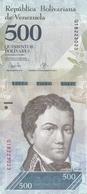 BILLETE DE VENEZUELA DE 500 BOLIVARES DEL 23 DE MARZO DEL 2017 EN CALIDAD EBC (XF)  (BANKNOTE) DELFIN-DOLPHIN - Venezuela