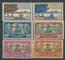 """Wallis Et Futuna N° 125 / 30  XX  Timbres Surchargés La Série Des 6 Valeurs Sans """"RF"""" Sans  Charnière,  TB - Unused Stamps"""