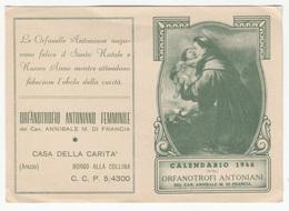 Calendario 1946 Degli Orfanotrofi Antioniani B180725 - Calendars