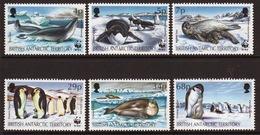 British Antarctic Territory 1992 Set Of Stamps To Celebrate Endangered Species, Seals And Penguins. - Territorio Antartico Britannico  (BAT)