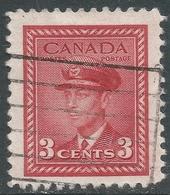 Canada. 1942-48 War Effort. 3c Red Used. SG 377 - 1937-1952 Reign Of George VI