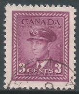 Canada. 1942-48 War Effort. 3c Purple Used. SG 378 - 1937-1952 Reign Of George VI