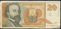 °°° JUGOSLAVIA 20 DINARA 1994 °°° - Jugoslavia