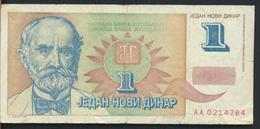 °°° JUGOSLAVIA 1 DINARA 1994 °°° - Yugoslavia