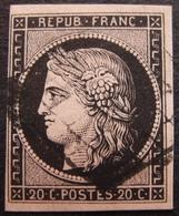 R1530/30 - CERES N°3a - GRILLE NOIRE - Cote : 70,00 € - 1849-1850 Ceres