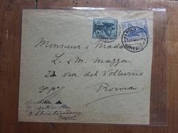 REGNO - Anniversario Vittoria Nn. 121-122 Su Busta + Spedizione Prioritaria - 1900-44 Vittorio Emanuele III