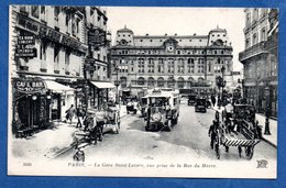 Paris / La Gare Saint Lazare , Vue Prise De La Rue Du Havre  / Splendid Restaurant - Pariser Métro, Bahnhöfe