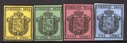 Spagna 1854 Servizio Unif.1/4 */(*)/MH/MNG VF/F - Servizi