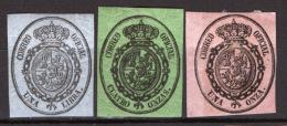 Spagna 1855 Servizio Unif.6/8 */MH VF/F - Servicios