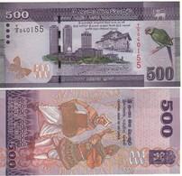 SRI LANKA  500 Rupees  Dated 2010.01.01   P126a   Parakeet At Right  UNC - Sri Lanka