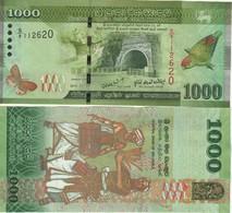 SRI LANKA  1'000 Rupees  Dated 2010.01.01   P127a   Parrot At Right  UNC - Sri Lanka