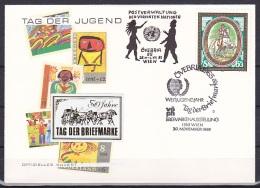 Austria/1985 - Stamp Day 50th Anniv./50 Jahre Tag Der Briefmarke - 6 + 3 S - 'OVEBRIA 85' - FDC