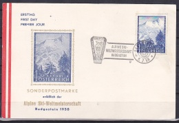 Austria/1958 - Alpine Ski Championships/Alpine Ski Weltmeisterschaften - 1.50 S - FDC Postcard - FDC