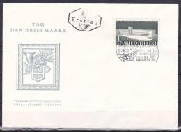 Austria/1957 - Stamp Day/Tag Der Briefmarke - 1 + 25 G - FDC - FDC