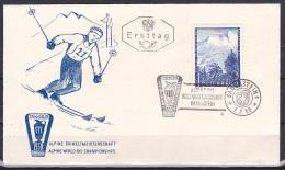 Austria/1958 - Alpine Ski Championships/Alpine Ski Weltmeisterschaften - 1.50 S - FDC - FDC