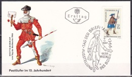 Austria/1966 - Stamp Day/Tag Der Briefmarke - 3 S + 70g - FDC - FDC