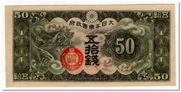 CHINA,JAPANESE GOVERNMENT,50 SEN,1940,P.M13,UNC - China