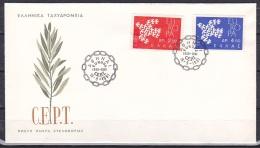 Greece/1961 - Europa CEPT - Set - FDC - FDC