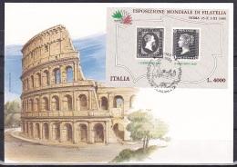 Italy/1985 - World Philately Expo./Esposizione Mondiale Di Filatelia - Souviner Sheet - FDC - Italie