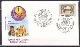 Italy/1971 - Christmas/Natale - 25 L - Cover 'XVIII CONGRESSO EUCARISTICO NAZIONALE 1972 ' - Italie