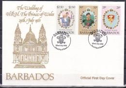 Barbados/1981 - Royal Wedding - Set - FDC - Barbados (1966-...)