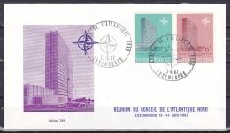 Luxembourg/1967 - NATO Council Meeting/Reunion Du Conseil De L'Atlantique Nord - Set - FDC - FDC
