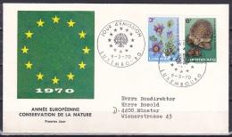 Luxembourg/1970 - Nature Conservation/Conservation De La Nature - Set - FDC - FDC