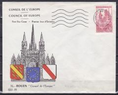 France/1958 - Rouen Cathredral/Cathedrale De Rouen - 35 F - 'CONSEIL DE L'EUROPE STRASBOURG' - France