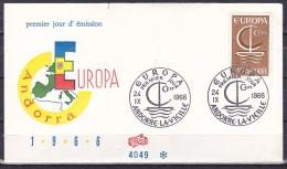 Andorra/1966 - Europa CEPT - 60 C - FDC - FDC