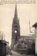 32) MARCIAC  Petite Animation Dans Une Rue Proche De L'église , Chapelle Des Pénitents         BE - Francia