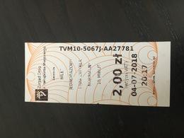 Transit Ticket Szczecin (Poland)  - Bus/Tram/Subway/Metro - Subway