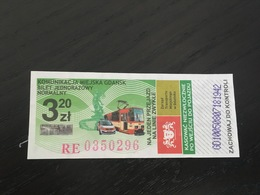 Transit Ticket Gdansk / Danzig (Poland)  - Bus/Tram/Subway/Metro - Metropolitana