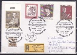 Austria/1989 - Richard Strauss - 6 S - FDC 'RICHARD STRAUSS 125 GEBURTSTAG' - FDC