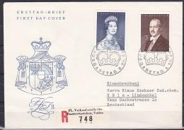 Liechtenstein/1960 - Princess Gina & Prince Franz Josef II - Set - FDC - FDC