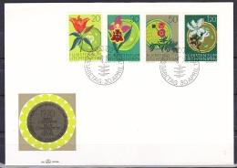 Liechtenstein/1970 - Nature Consevation Year/Naturschutzjahr/Annee De La Protection De La Nature - Set - FDC - FDC